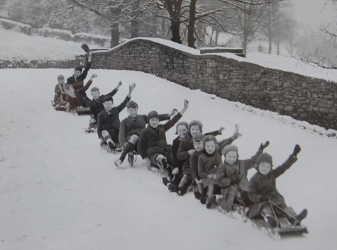 Sledging on Church Bridge photo